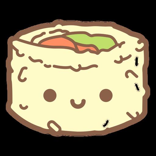 Uramaki roll cartoon