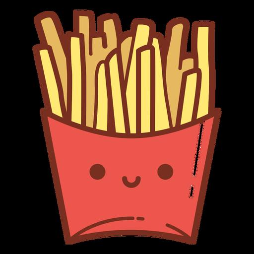 Desenho animado de batata frita
