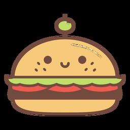 Happy hamburger cartoon