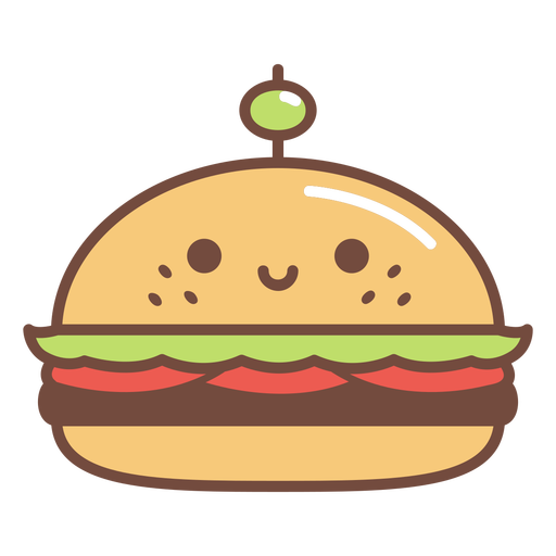 Dibujos animados de hamburguesa feliz