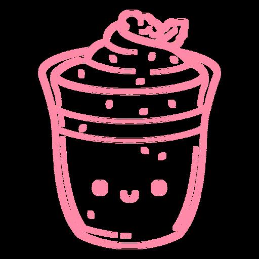 Cute dessert stroke