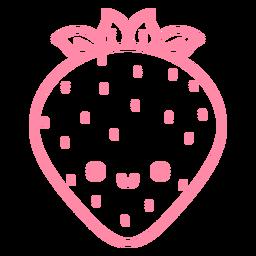 Golpe de fresa feliz