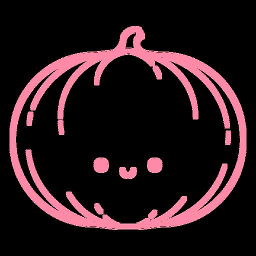 Happy pumpkin stroke