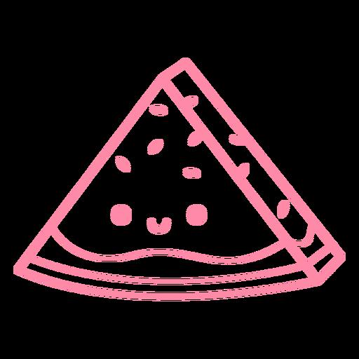 Watermelon slice stroke
