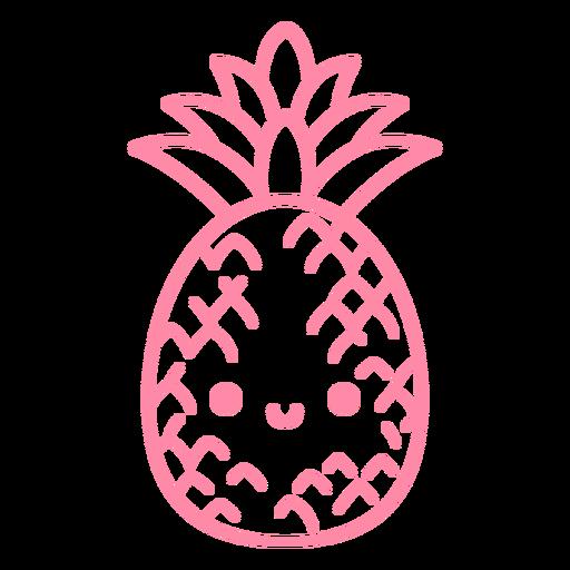 Feliz golpe de abacaxi