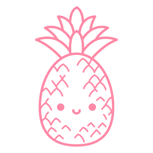 Happy pineapple stroke Transparent PNG