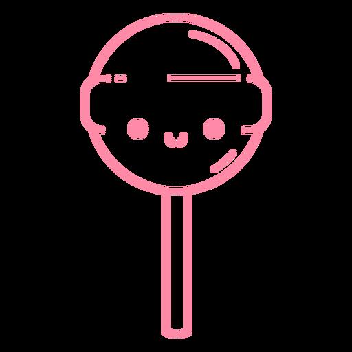 Traço de pirulito rosa