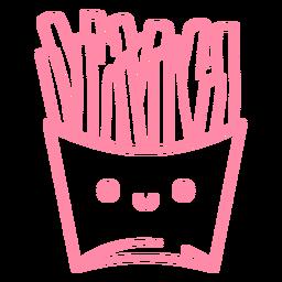 Batata frita rosa