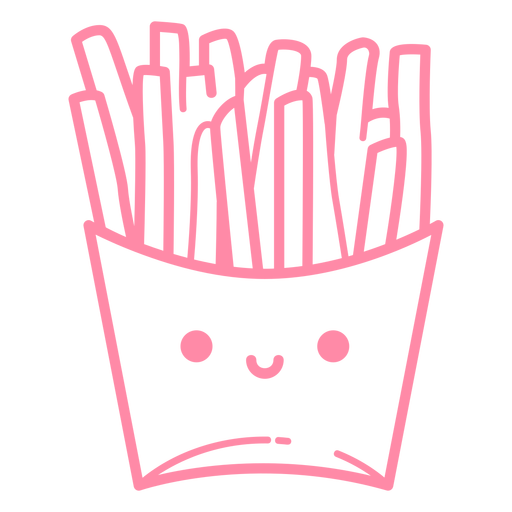 French fries pink stroke