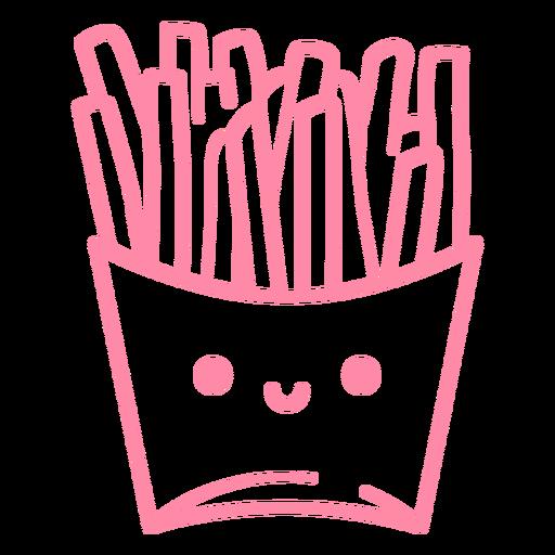 Papas fritas trazo rosa