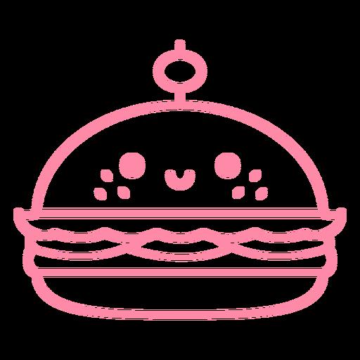 Golpe de hamburguesa feliz