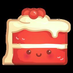 Red velvet cake gradient