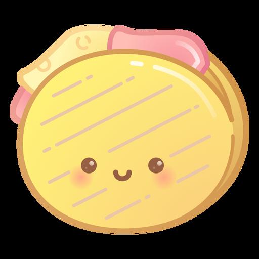 Grilled sandwich gradient