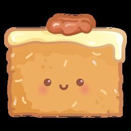 Gradiente de pastel de zanahoria feliz