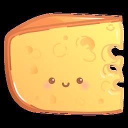 Feliz gradiente de fatia de queijo