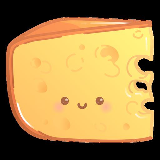 Gradiente de rebanada de queso feliz