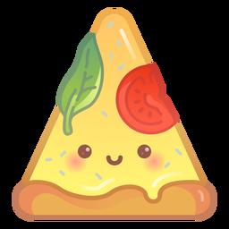 Gradiente de rebanada de pizza feliz