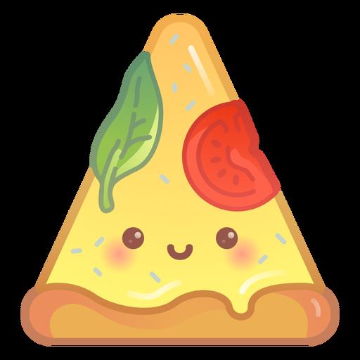 Happy pizza slice gradient