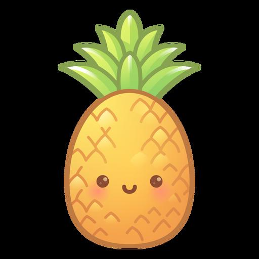 Happy pineapple gradient Transparent PNG
