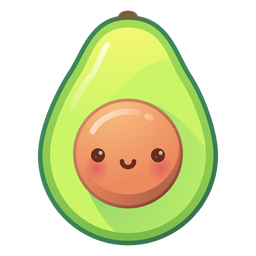 Happy avocado gradient