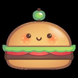 Gradiente de hamburguesa feliz