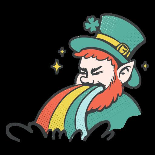Leprechaun and rainbow illustration
