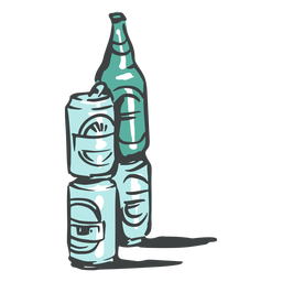 Can and bottles doodle