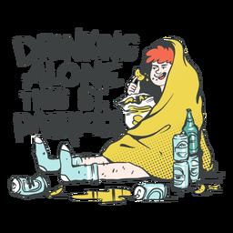 Drinking alone st patricks illustration