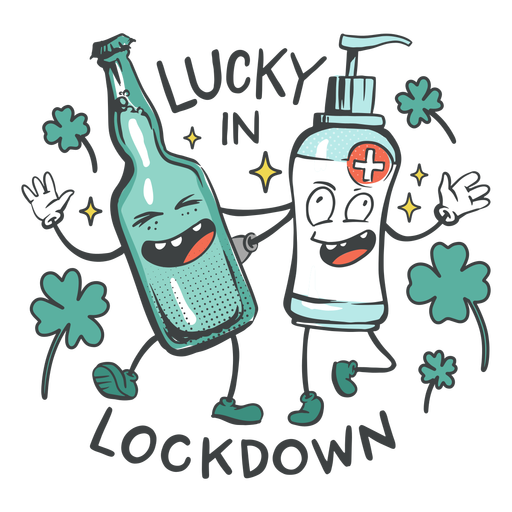 Lucky in lockdown badge Transparent PNG