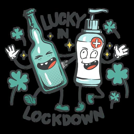 Lucky in lockdown badge