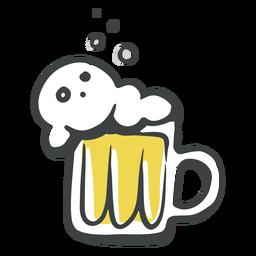 Jarra de cerveza doodle
