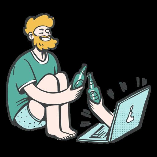Online drinking illustration
