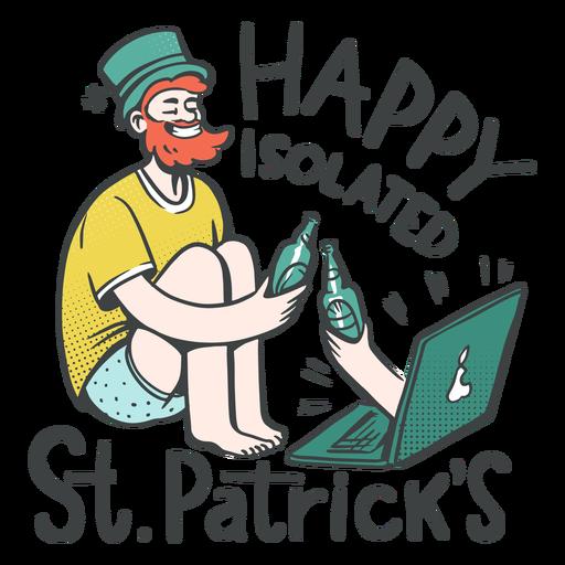Happy isolated st patrick's badge