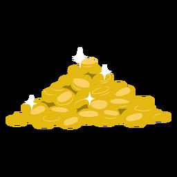 Montanha de ouro plano
