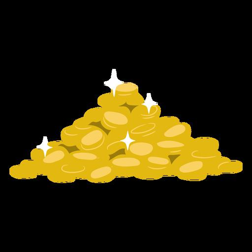 Berg aus Gold flach