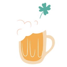 Beer jug and clover flat