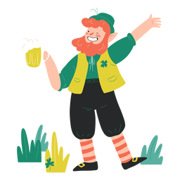 Happy man st patricks illustration