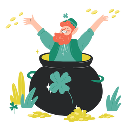 Irishman in gold pot character