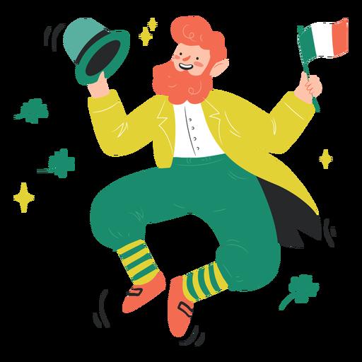 Dancing irishman characer