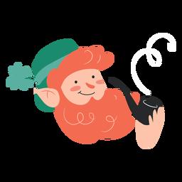 Irishman smoking pipe cartoon