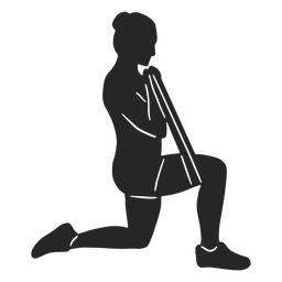 Woman exercising silhouette