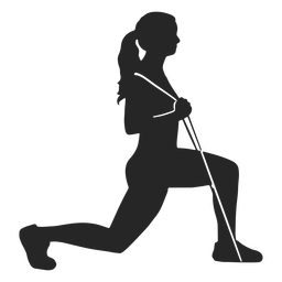 Woman working out silhouette