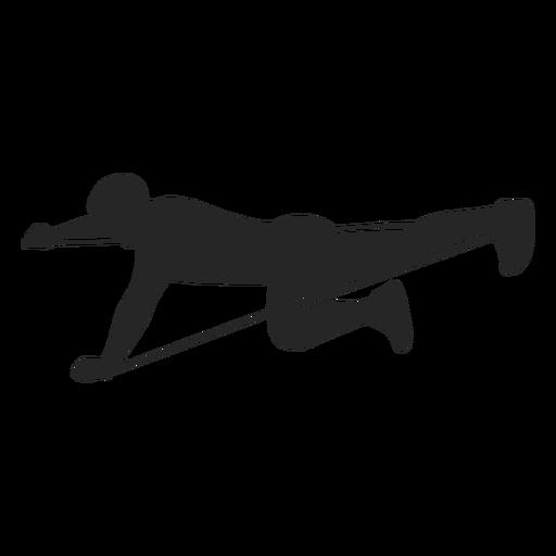Exercising man silhouette