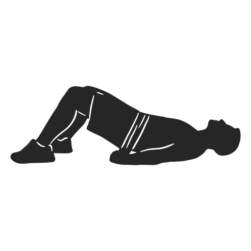 Male working out silhouette