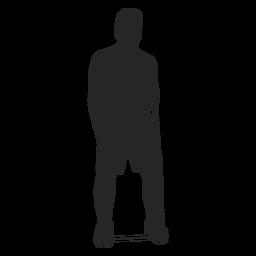 Ejercicio de silueta masculina