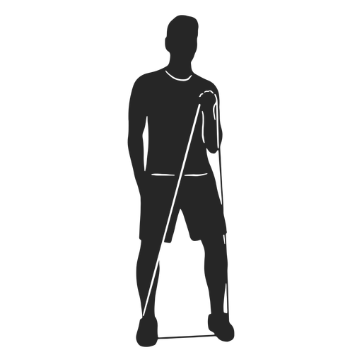 Exercising male silhouette