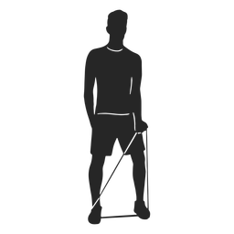 Work out man silhouette