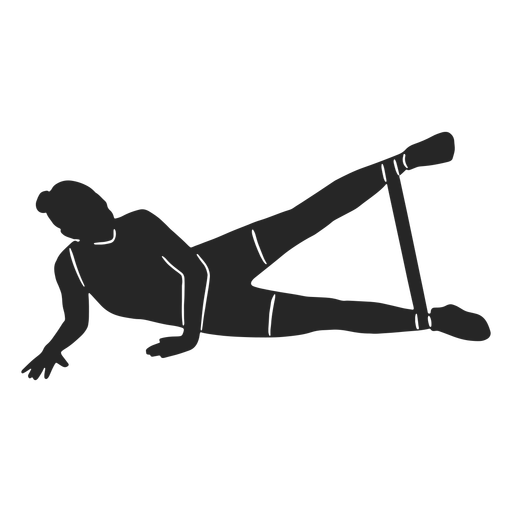 Work out woman silhouette