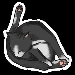 Ilustración de baño de gato negro