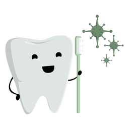 Tooth and toothbrush character